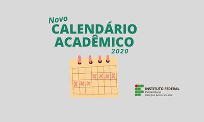Banner novo calendário acadêmico