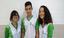Os alunos Geovana, José Anderson e Kaline