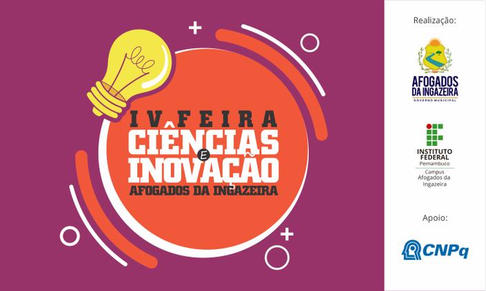 IV Feira de Ciências e Inovação de Afogados será virtual