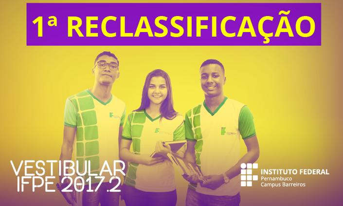 IFPE-Barreiros libera primeira lista de reclassificação do vestibular 2017.2
