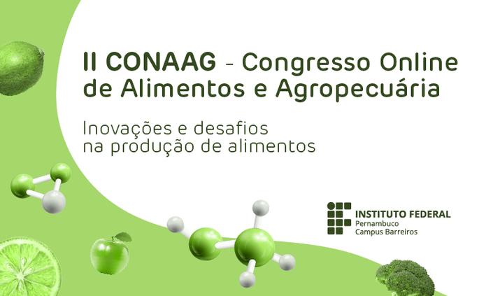 IFPE Barreiros promove Congresso On-line de Alimentos e Agropecuária