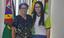 Professora Fátima Verônica e a estudante Nicole Bezerra