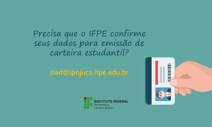 Carteira estudantil: Campus Ipojuca faz confirmação de dados on-line