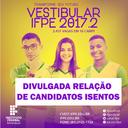 RESULTADO ISENÇÃO 2017.2