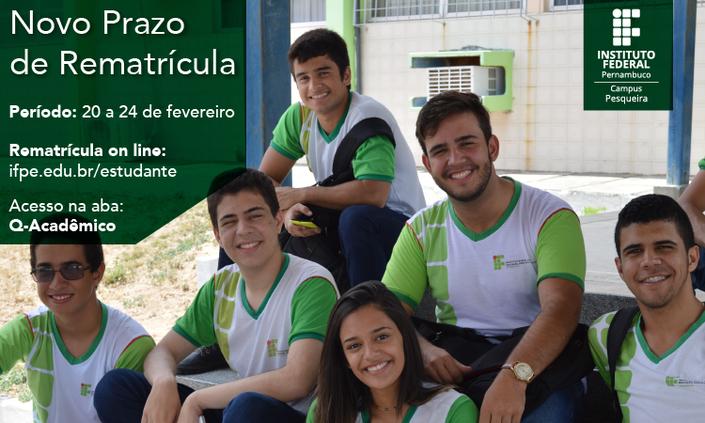 IFPE Campus Pesqueira reabre período de matrícula para estudantes retardatários