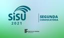 segunda convocatória SiSU 2021