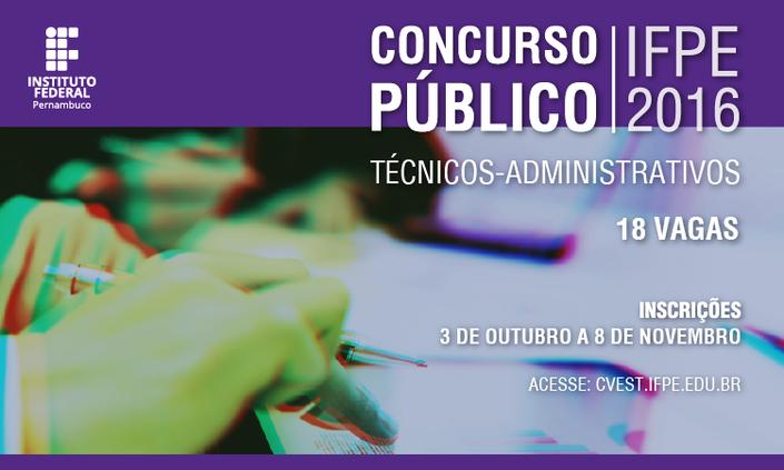 Inscrições abertas para Concurso de Técnicos-Administrativos