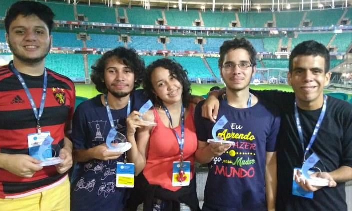 Estudantes do IFPE apresentam bom desempenho durante a Campus Party Bahia